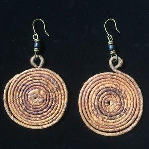 Vintage Tribal Twisted Twine Earrings